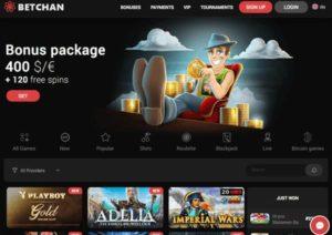 Betchan casino screenshot