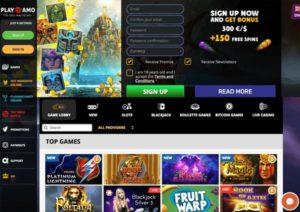 Playamo casino screenshot